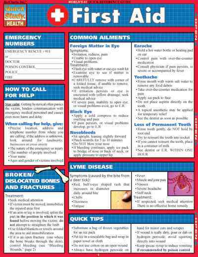 First Aid Quicke Reference Guide By Barcharts, Inc. (COR)